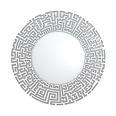 White radial maze without solution
