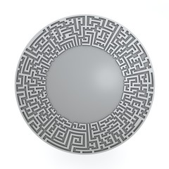 Grey radial maze without solution