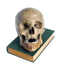 Skull and the book.