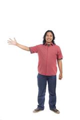 Man Pointing Something