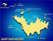carte saint barthelemy et ses iles