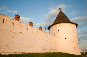 the castle wall