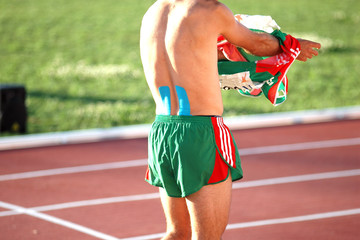 Adhesive tapes for muscle overload