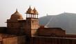 Walls and Minarets at Amber Fort near Jaipur, India.