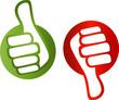 positiv negativ voting buttons