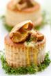 Vol-au-vents filled with mushroom