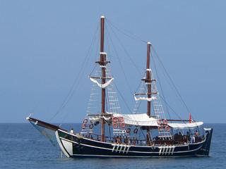 Traditional style turkish promenade yacht