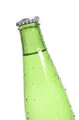 Green bottle with liquid