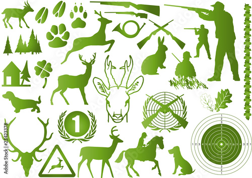 jagd symbole grün