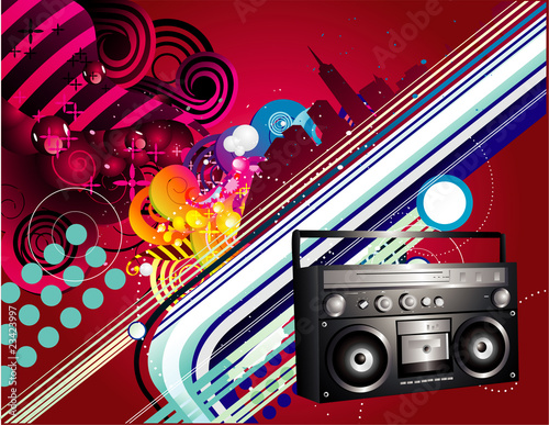 urban music vector illustration