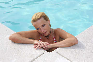 Attractive Woman at Pool