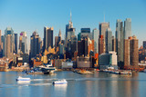 Fototapety NEW YORK CITY WITH SKYSCRAPERS