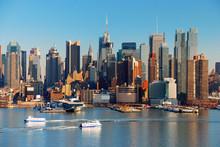 """Постер, картина, фотообои """"NEW YORK CITY WITH SKYSCRAPERS"""""""