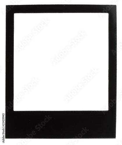 cadre photo polaro d noir fond blanc photo libre de droits sur la banque d 39 images. Black Bedroom Furniture Sets. Home Design Ideas