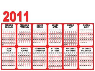 2011 Calendario-Calendar-Vector