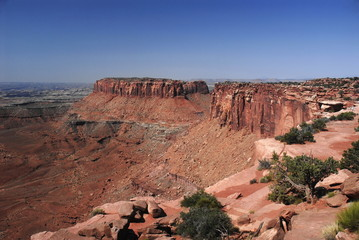 Red rock formations from Grand view point, Canyonlands,Utah