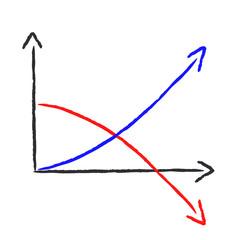 Abstrakt Diagramm - Gewinn und Verlust