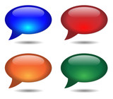 SPEECH BUBBLE ICONS (online chat web internet forum)