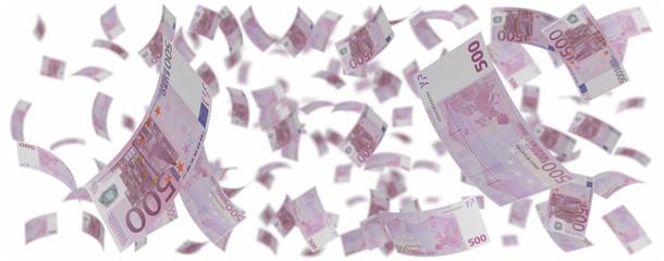 Five hundred euros rain
