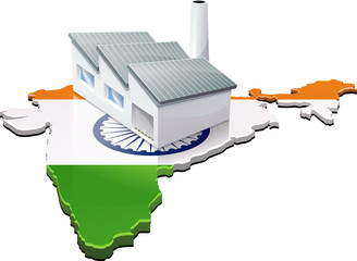 Usine en Inde (détouré)