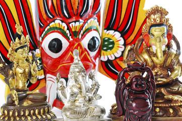 Buddha and hindu statues #1