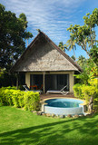 Beach bungalow with jacuzzi outdoor poster