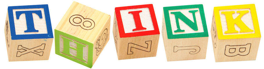 Alphabet Blocks THINK