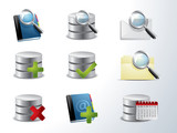 Vector database and catalog icon set