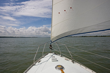 Sailing into a River