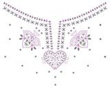 Neckline Chandelier Necklace poster