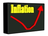 Inflation steigend Diagramm