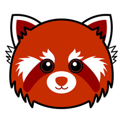 Cute Red Panda Vector