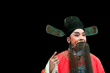 china opera man in red