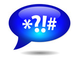 SWEARWORDS Speech Bubble Icon (angry impolite reaction abusive) poster