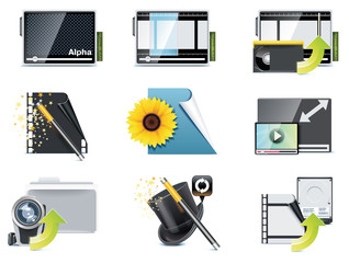 Vector video icons. Part 5