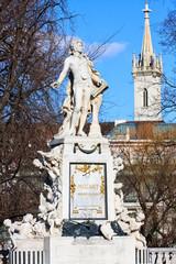 Mozart Denkmal im Wiener Burggarten
