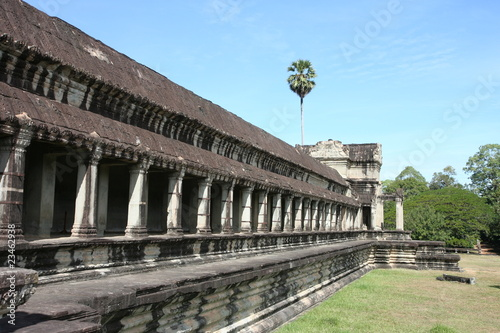 Wall around Angkor Wat in Cambodia