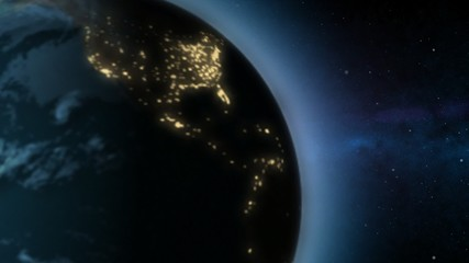 Loopable rotating Earth animated background