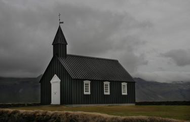 Icelandic church in Budir on Snaefellsnes penisula