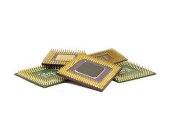 processadores amontoados