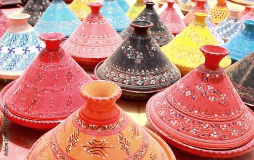 Leinwandbild Motiv Tunisie - Houmet-Souk - Tajines