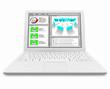 Webinar Screen on White Laptop Computer