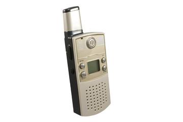 radio walkie talkie em fundo branco