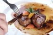 Hot Meat Dishes-Fillet of beef with onions and apple jelly