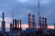 Grangemouth Refinery at sunset