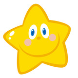 Smiling Star Cartoon Character