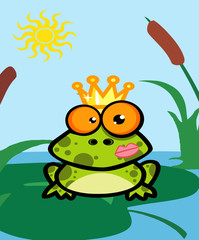 Vector Illustration Of Frog Prince