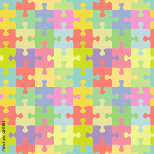 Seamless (you see 4 tiles) jigsaw puzzle pattern