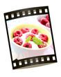 Joghurt mit himbeeren