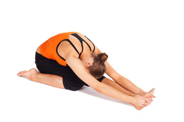 Fit Young Woman Practicing Yoga Asana
